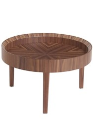 Midsummer Milano Small Wooden Side Table Brown