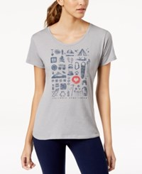 Columbia Camp Stamp Active Fit Top Charcoal Heather