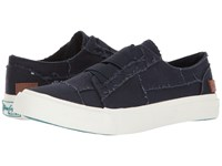 Blowfish Marley Navy Color Washed Canvas Women's Flat Shoes Blue
