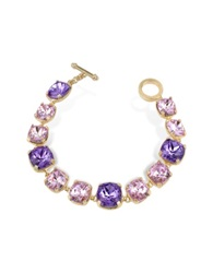 A Z Collection Amethyst Crystal Bracelet Purple