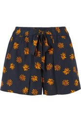 Madewell Floral Print Voile Shorts Navy