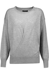 Isabel Marant Evans Draped Cashmere And Silk Blend Sweater Gray