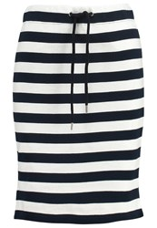 More And More Pencil Skirt Marine Blue