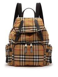 Burberry Vintage Check Canvas Backpack Brown Multi