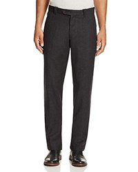 Bloomingdale's The Men's Store At Wool Flannel Classic Fit Trousers Charcoal