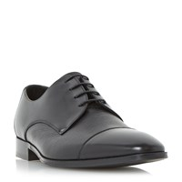 Loake Doyle Toecap Leather Gibson Shoe Black