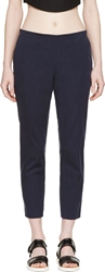 6397 Navy Cropped Trousers