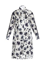 Osman Suzie Floral And Bug Print Cotton Poplin Dress White Multi
