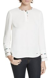 Ted Baker London Ieshai Top Ivory