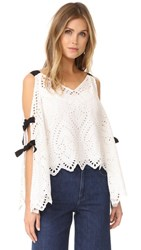 Nanette Lepore Hook Like Sinker Top White