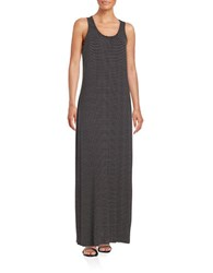 Lord And Taylor Striped Maxi Dress Black