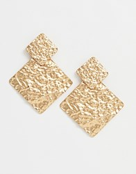New Look Textured Earrings In Gold