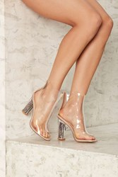 Sole Of The Party Clear Bootie
