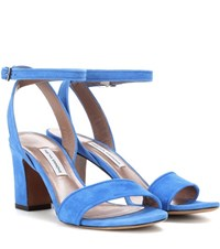 Tabitha Simmons Leticia Suede Sandals Blue