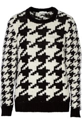 Sandro Serial Chunky Knit Houndstooth Sweater