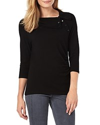 Phase Eight Shaniya Button Detail Sweater Black