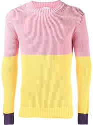 J.W.Anderson Tri Colour Knit Yellow And Orange