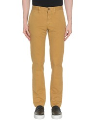Incotex Red Casual Pants Ocher