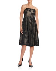 Calvin Klein Strapless Lace Dress Black