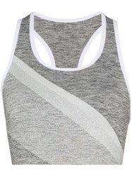 Lndr Comet Sparkle Stripe Sports Bra Grey