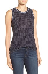 Stateside Women's Polka Dot Slub Cotton Tank