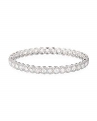 64 Facets Rose Cut Diamond Bangle In 18K White Gold