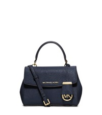 Michael Kors Ava Extra Small Saffiano Leather Crossbody Navy