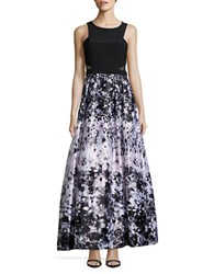 Xscape Evenings Floral Print A Line Dress