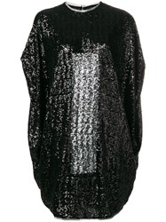 Gianluca Capannolo Short Sequined Dress Black