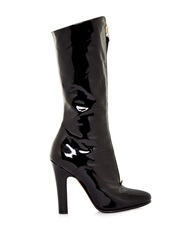 Valentino Revelle Zip Front High Shine Leather Boots