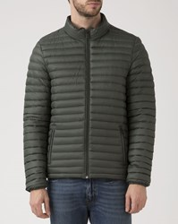 Scotch And Soda Olive Green Lightweight Down Jacket