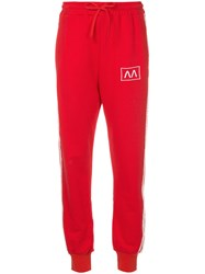 Ainea Striped Track Pants Red