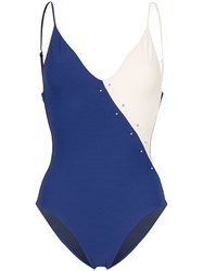 Onia Jacque Barbell Swimsuit Blue