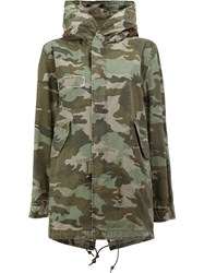Mr And Mrs Italy Camouflage Print Coat Green