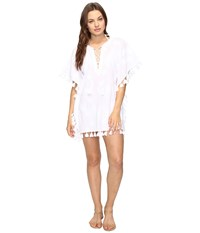Seafolly Embroidered Kaftan Cover Up White Women's Swimwear