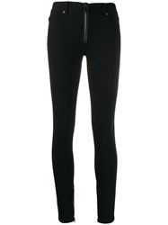 Tom Ford Skinny Front Zip Trousers Black