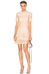 Alexander Mcqueen Bandage Mini Dress In Pink Metallics Pink Metallics