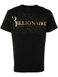 Billionaire Statement Studded T Shirt Black