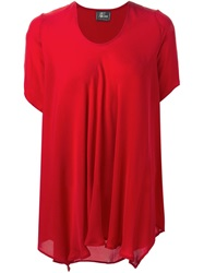 Lost And Found Draped Blouse Red