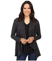 B Collection By Bobeau Amie Cardigan Charcoal Grey Women's Sweater Gray