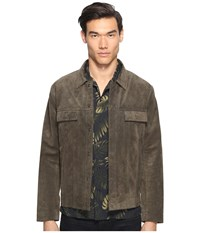 Vince Suede Trucker Jacket Olive Men's Coat