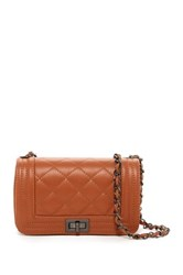 Giulia Massari Quilted Nappa Leather Flap Crossbody Brown