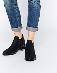 Shellys Mid Heel Ankle Boots Black