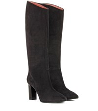 Acne Studios Aly Suede Knee High Boots Black