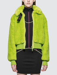 Kirin Smile Jac Fur Collar Bomber Jacket Green