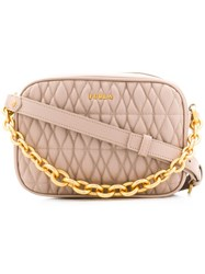 Furla Quilted Crossbody Bag Neutrals