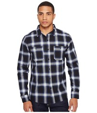 Huf Ombre Plaid Long Sleeve Shirt Blue Men's Clothing