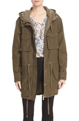 The Kooples Women's Hooded Military Parka