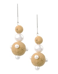 First People First Earrings Beige
