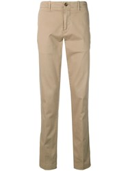 Corneliani Straight Chino Trousers Neutrals